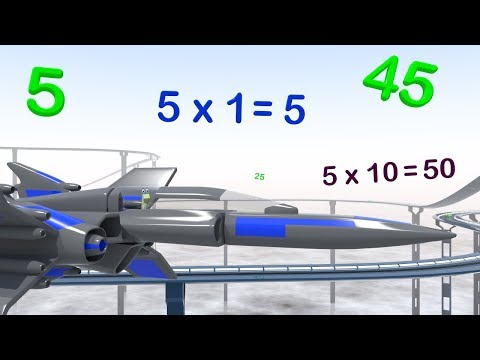 Five Times Table Race - Multiplication Maths Videos for Kids