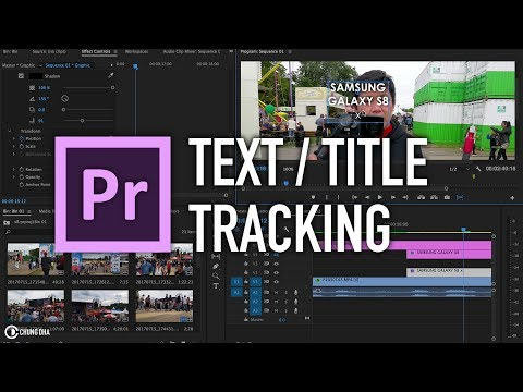 Premiere Pro Text / Title Tracking Tutorial by Chung Dha