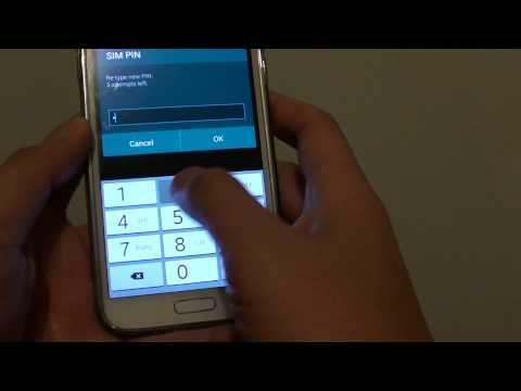 Samsung Galaxy S5: How to Change SIM PIN