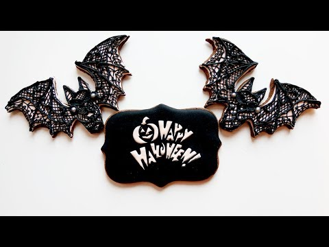 Gothic Lace Cookies for Halloween I Marzipan Candies