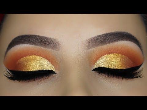 Warm Golden Cut Crease Tutorial