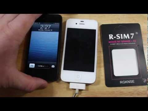 UNLOCK iPhone 4S Sprint & Verizon CON RSIM 7 (EEUU) iPhone 5 TODAVIA