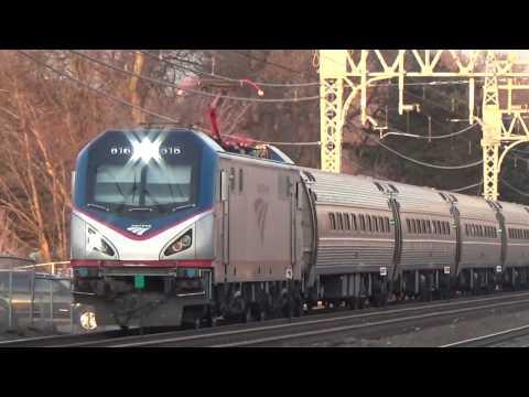 A few trains at Stratford, CT