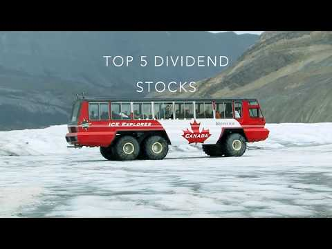 Top 5 dividend stocks of canada