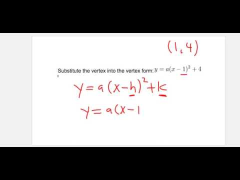 Finding a Quadratic equation from 2 points on a parabola