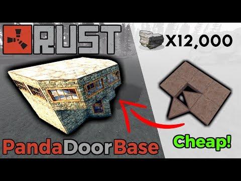 RUST | Cheap Duo Base Design! | PANDA DOOR METHOD