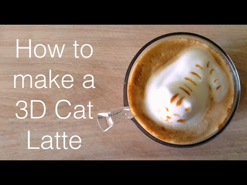 How to make a 3D Cat Latte
