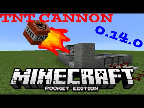 STRAIGHT,POWERFUL TNT CANNON IN MINECRAFT PE 14.0