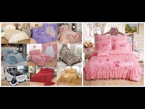 top luxury bed sheets=ruffled bedspread