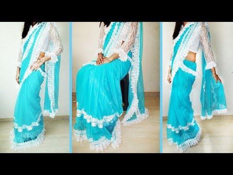 How to make designer saree at home||How to make designer saree||How to make designer saree in hindi