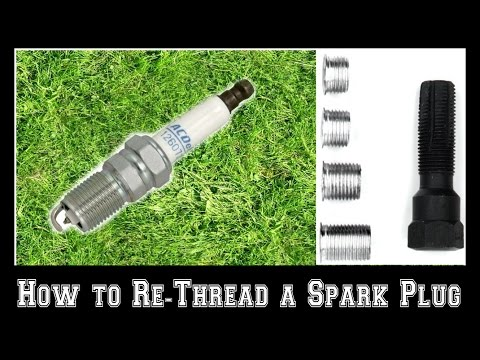 How to Re-Thread a Stripped Spark Plug Hole in a Push Mower