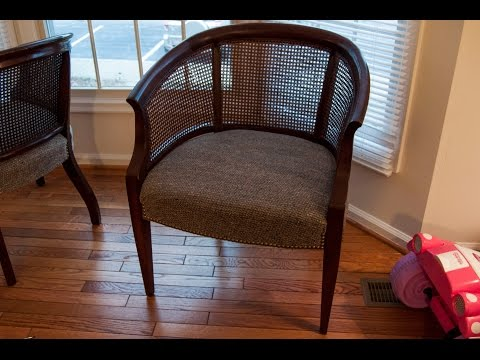 DIY: How To Refinish & Reupholster A Chair- Cane Chair Pt. 1