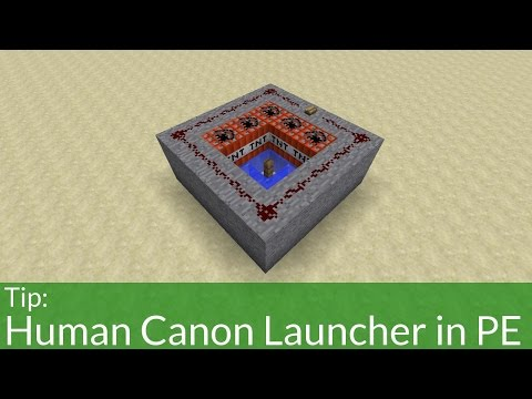 How To Build a Human Cannon Launcher in Minecraft Pocket Edition