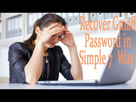 7 Ways to Recover a Gmail Password | Forgot Gmail Password