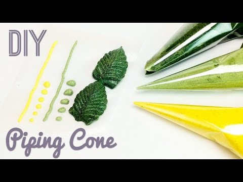 DIY piping cone - for buttercream, royal icing, chocolate, henna - piping bag tutorial