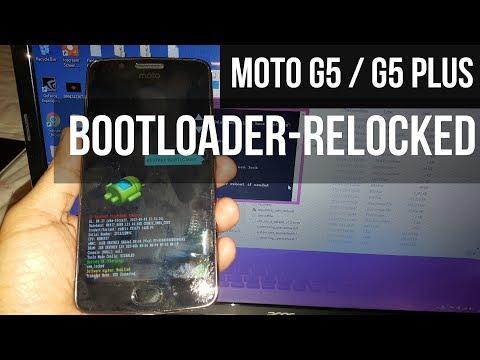 Moto G5/G5 Plus Relock Bootloader Tutorial
