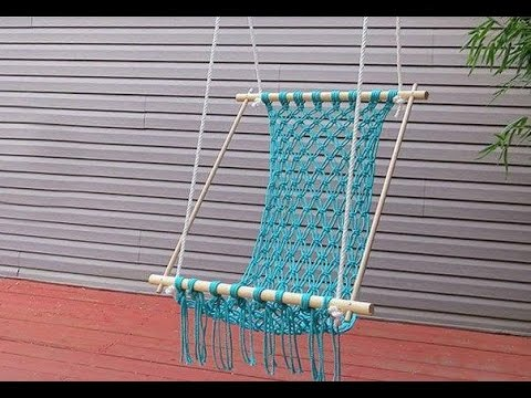 DIY Macrame Seat for a Chair