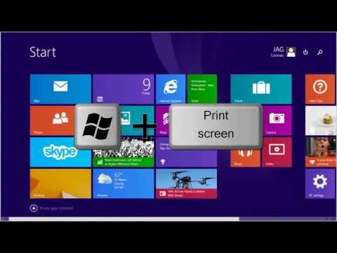 Windows 8 / 8.1 - How to Take A Screenshot [Tutorial]