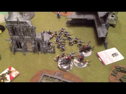 Astra Militarum vs Space Wolves and Raven Guard Space Marines - Warhammer 40k Batrep