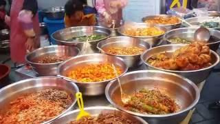 Download Explore the food of Korea. Eating at Gupo Traditional market Busan.. Video