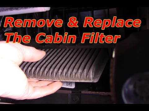 How to replace the cabin filter 2007-2017 Ford Edge