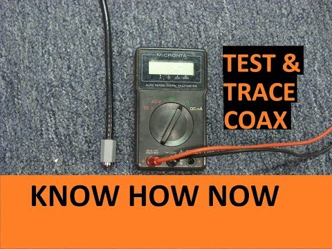 How to Test Coax Cable With a Multimeter