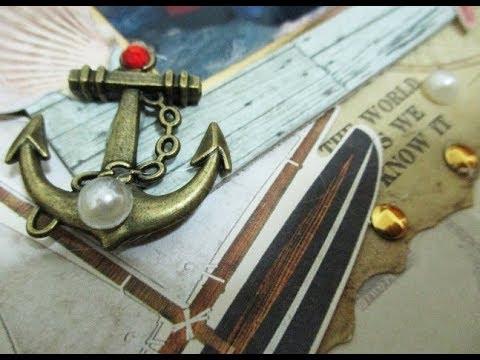 DIY : #201 Vintage Frame - Sailor Theme ❤