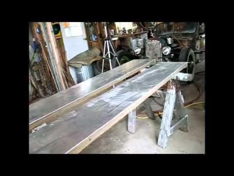 Home made alumium reinforced not skid trailer ramps