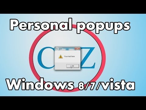 [HOW TO] Create a popup message windows 8/7/Vista/XP EASY