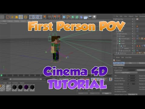 Cinema 4D Tutorial | Minecraft First Person POV | EASY | (HD)