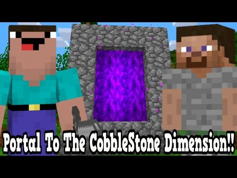 Minecraft How To Make A Portal To The CobbleStone Dimension - CobbleStone Dimension Showcase!!