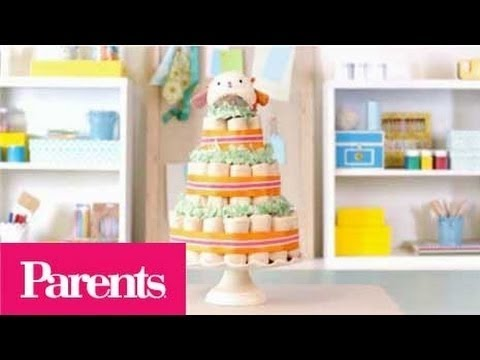 Baby Shower Ideas - How to Make a Diaper Cake | Parents