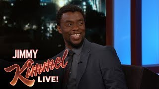 Jimmy Kimmel Grills Chadwick Boseman About Avengers