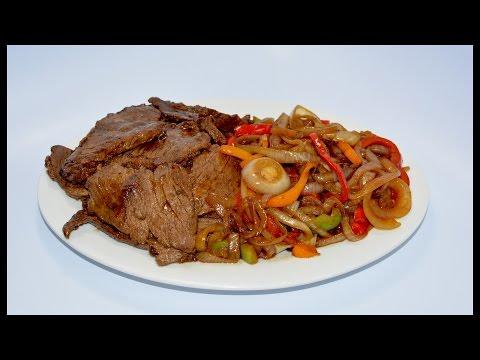 Bistec encebollado ' Como preparar carne encebollada