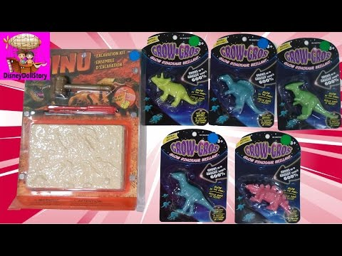 GIANT Glow-In-The-Dark Growing Dinosaurs and Excavation Kit - $10 Toy Challenge MASS COLLABORATION