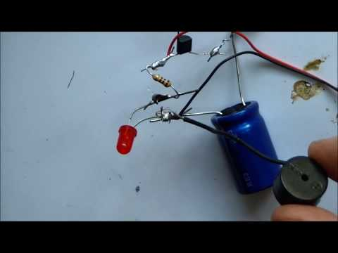 INTERMITTENT SONG BUZZER PIEZOELECTRIC WITH LED AND SINGLE TRANSISTOR  BC547