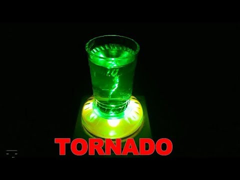 How to Make a Tornado in a Glass or Bottle - Home made tornado