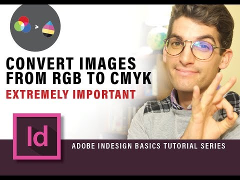Convert Images From RGB to CMYK With Photoshop Action for Indesign Document Tutorial Part 3 (2018)