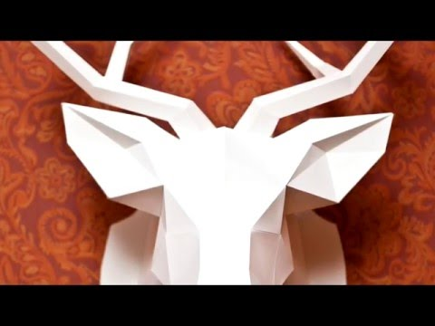 How to make Paper Deer Head?