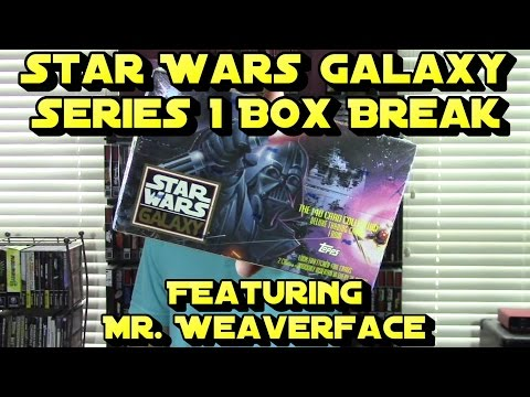 The Star Wars Galaxy Series 1 Trading Cards 1993 by Topps Box Break Unboxing