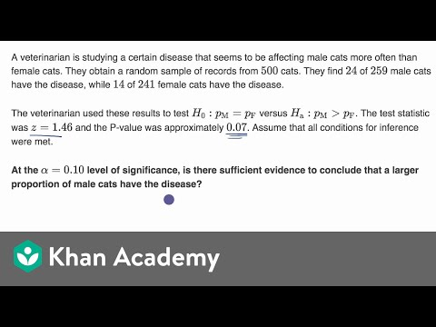 Comparing P value to significance level for test involving difference of proportions