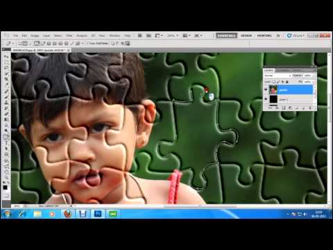 puzzle effect on photoshop