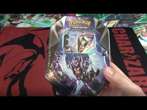 Pokemon TCG Dawn WIngs Necrozma GX Prism Tin Opening