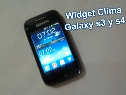 Widget Weather Samsung Galaxy S3 y S4//Android 2.2+.
