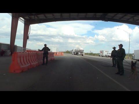 BORDER PATROL CHECKPOINT, I-10, EL PASO, TEXAS, U.S.A.