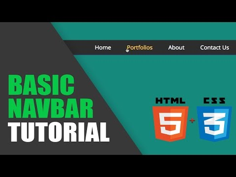 Tutorial Navigation Bar - HTML & CSS
