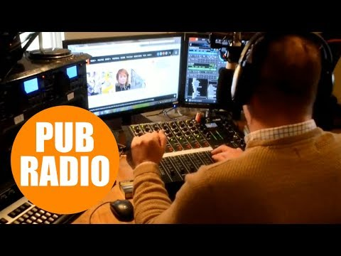 Man sets up community radio station in the back of the local pub