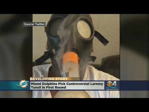 Video Allegedly Shows Dolphins' Pick Smoking From Gas Mask Bong Minutes Before Draft