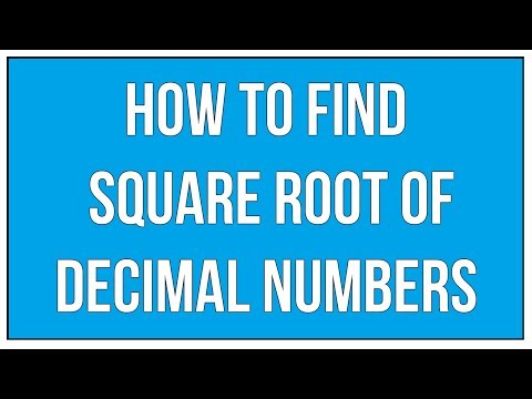 How To Find Square Root Of Decimal numbers / Square Roots - Maths Arithmetic