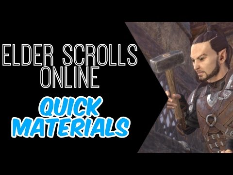 Elder Scrolls Online: Quickest Way To Get Ingot, Wood and Leather